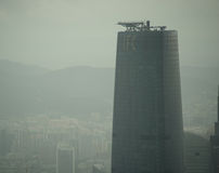 修建广州的IFC 免版税库存图片