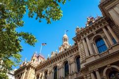 修建悉尼澳大利亚的城镇厅 图库摄影