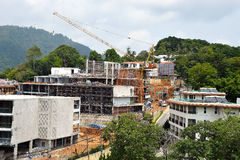 修建旅馆在东南亚 免版税库存图片