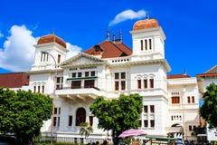 修建日惹的印度尼西亚银行 库存图片