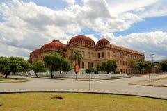 修建昆卡省,厄瓜多尔的殖民地大学 免版税图库摄影