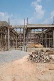 修建的一个新房木头 图库摄影