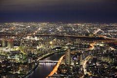 俯视东京 免版税库存图片