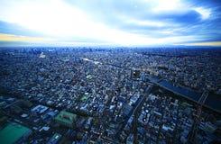 俯视东京 免版税图库摄影