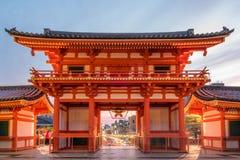 俯视京都的Yasaka寺庙 免版税库存照片