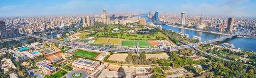 俯视从上面的开罗,埃及 免版税图库摄影