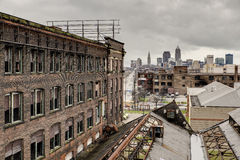 俯视克利夫兰,俄亥俄的华纳& Swasey 免版税图库摄影