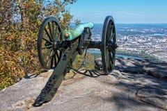 俯视加得奴加田纳西的南北战争大炮 免版税库存图片