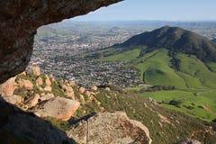 俯视圣谷的luis 库存图片