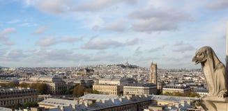 俯视城市的虚构物 免版税库存图片