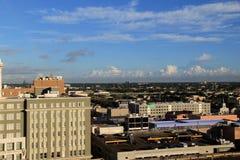 俯视城市,新奥尔良的美好的场面, 2016年 库存照片