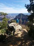 俯视大峡谷的北部外缘 免版税库存图片