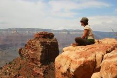 俯视大峡谷 库存图片