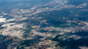 俯视市珠海,中国 免版税库存照片