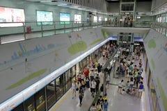 俯视广州地铁 库存照片