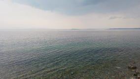 俯视日本海的阿穆尔湾的海景 股票录像