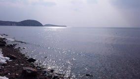 俯视日本海的阿穆尔湾的海景 影视素材