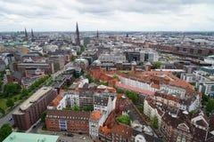 俯视汉堡 免版税库存照片