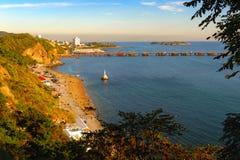 俯视海湾 免版税图库摄影