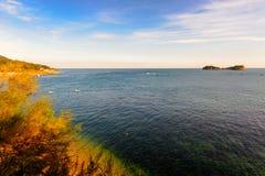 俯视海湾 免版税库存图片