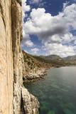 俯视海的峭壁 免版税图库摄影