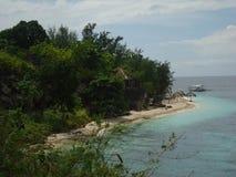 俯视海滩 库存图片