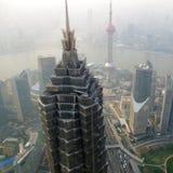 俯视的上海地平线 库存图片