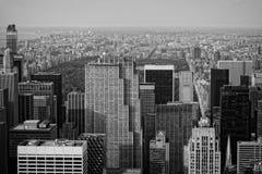 俯视的中央公园 库存图片