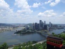 俯视的匹兹堡 库存照片
