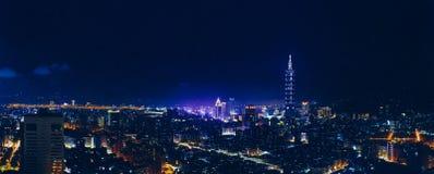 俯视的台北市 免版税库存图片