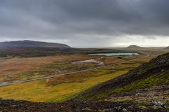 俯视的地热田在冰岛 免版税库存照片