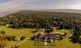 俯视的坎伯兰郡海岛 免版税图库摄影