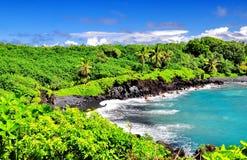 俯视的夏威夷 免版税库存图片