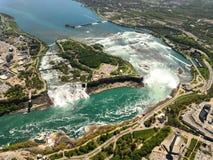 俯视的尼亚加拉大瀑布 免版税库存图片