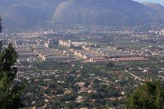 俯视的巴勒莫西西里岛 库存照片