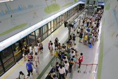 俯视的广州地铁 库存照片