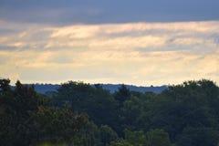 俯视的罗切斯特NY的市地平线 免版税库存照片