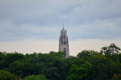 俯视的罗切斯特NY的市地平线 免版税库存图片