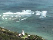 俯视的金刚石顶头灯塔 免版税库存照片
