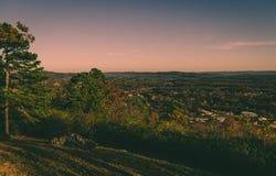 俯视的镇 免版税库存照片