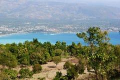 俯视的雅克梅勒,海地 库存照片