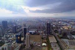 俯视的高雄市 免版税库存照片