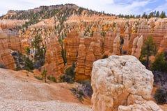 俯视的Bryce峡谷,犹他 免版税库存照片