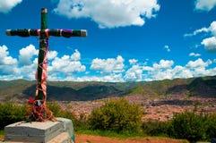 俯视的cuzco 免版税库存图片