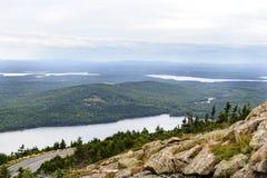 俯视的Eagle湖 免版税库存图片