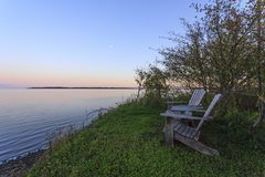 俯视的Shediac海湾在新不伦瑞克 免版税库存图片