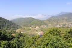 俯视的zaoshui村庄 免版税库存照片