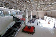 俯视美术馆大大厅  库存照片