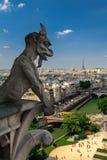 俯视艾菲尔铁塔一个夏日 免版税库存图片