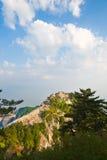 俯视西部peak_haushan_xian 免版税库存照片